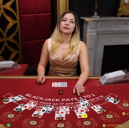 Table de blackjack traditionnel de casino en ligne